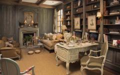 bureau bibliothèque maison familiale rustique