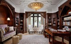 bibliothèque bureau luxe design bois