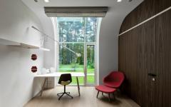 intérieur contemporain futuriste maison architecte