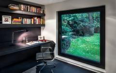 bureau design minimaliste avec vue