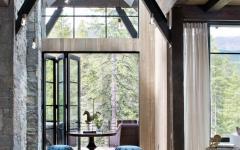 chalet de montagne luxe intérieur design rustique élégant