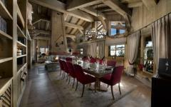 luxueux intérieur en bois rustique