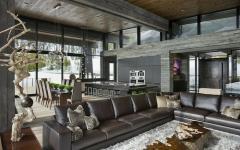salon et séjour rustique résidence secondaire