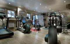 fitness chalet de vacances luxes courchevel