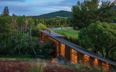 architecture moderne maison de luxe en bois