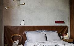 chambre rénovée double lit déco