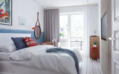 chambre belle à la décoration scandinave