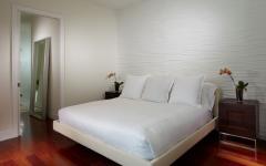 chambre à coucher minimaliste villa de luxe