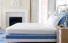chambre résidence de vacances déco bleue