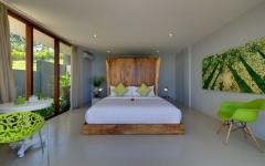 chambre à coucher villa exotique bali