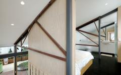 chambre à coucher loft de ville déco minimaliste