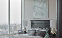 chambre d'amis minimaliste vue sur ville
