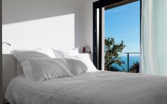 lit double avec vue sur mer