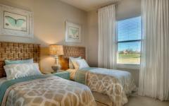 chambre lit séparée design déco simple