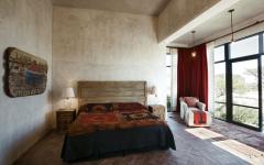 Chambre de style au design rustique et industriel
