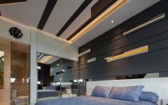 chambre d'amis lit double maison résidentielle luxe