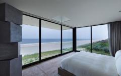 vue panoramique depuis chambre maison d'architecte plage mer