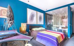 ambiance créative artistique et luxueuse chambre