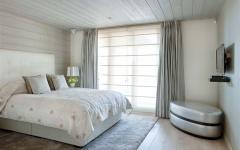 chambre déco épurée minimaliste chalet en bois
