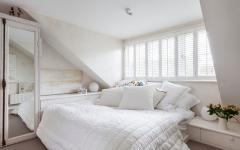 lit double chambre sous le toit maison de charme