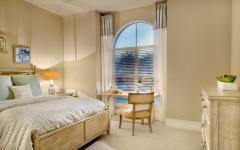 chambre lit double déco traditionnelle élégante
