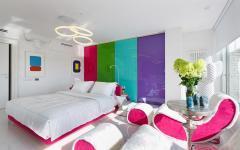 Chambre parents déco couleurs originales