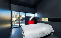 chambre à coucher minimaliste en noir