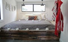 cadre de lit retro rustique à faire soi-même
