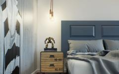 intérieur design chambre en gris élégant