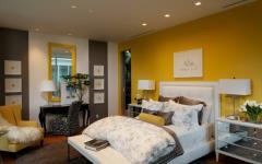 chambre déco design jaune