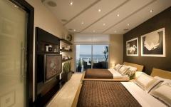 chambre à coucher avec vue sur plage