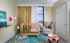 chambre d'enfant avec vue sur la mer