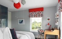 chambre d'enfant moderne sympa rouge