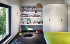 chambre enfants deco contemporaine en blanc