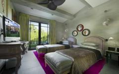 chambre lits séparés vacances à Saint Tropez