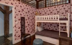 lits superposés chambre d'enfants aménagée