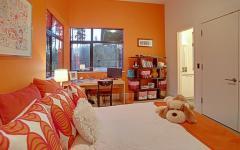 chambre d'enfant en orange