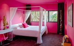 chambre d'adolescente en rose
