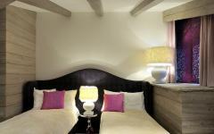 petite chambres enfants lits séparés déco rustique