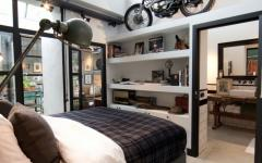 teintes accessoires déco masculines chambre à coucher