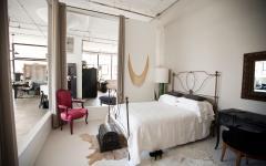 chambre clôturée loft industriel luxe