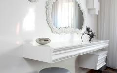 table de toilette luxe prestige design blanc