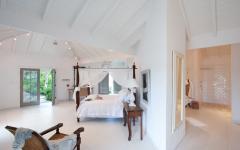 chambre exotique mobilier tropical minimaliste