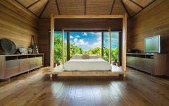 chambre en bois design décor minimaliste