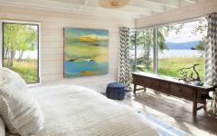 chambre principale avec imprenable vue lac