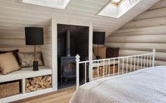 chambre à coucher design rustique