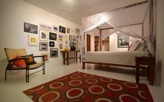 intérieur design épuré chambre villa de vacances