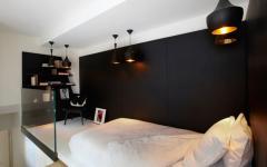 hôtel particulier mezzanine transformée en chambre