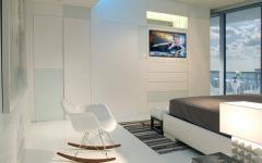 chambre design blanc élégant