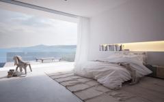 chambre design contemporain avec vue splendide